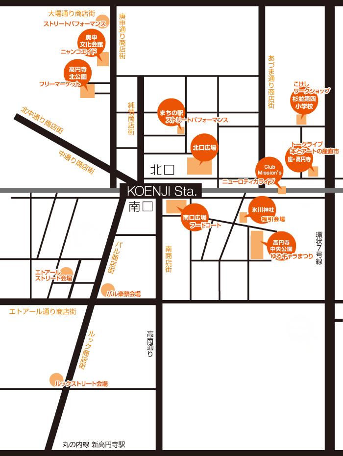 高圓寺地圖